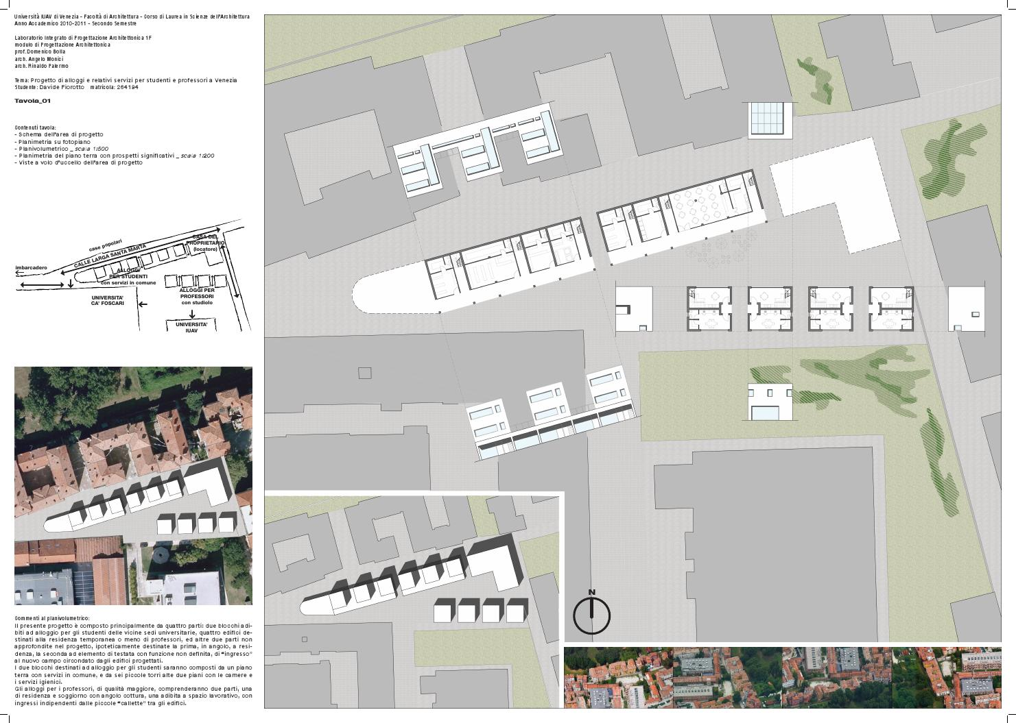 Progetto di alloggi e relativi servizi per studenti e for Laboratorio con alloggi