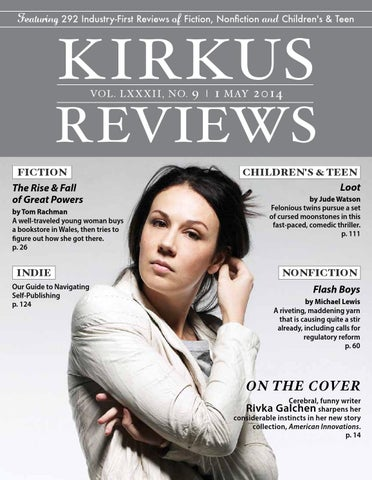 May 01 2014 Volume Lxxxii No 9 By Kirkus Reviews Issuu