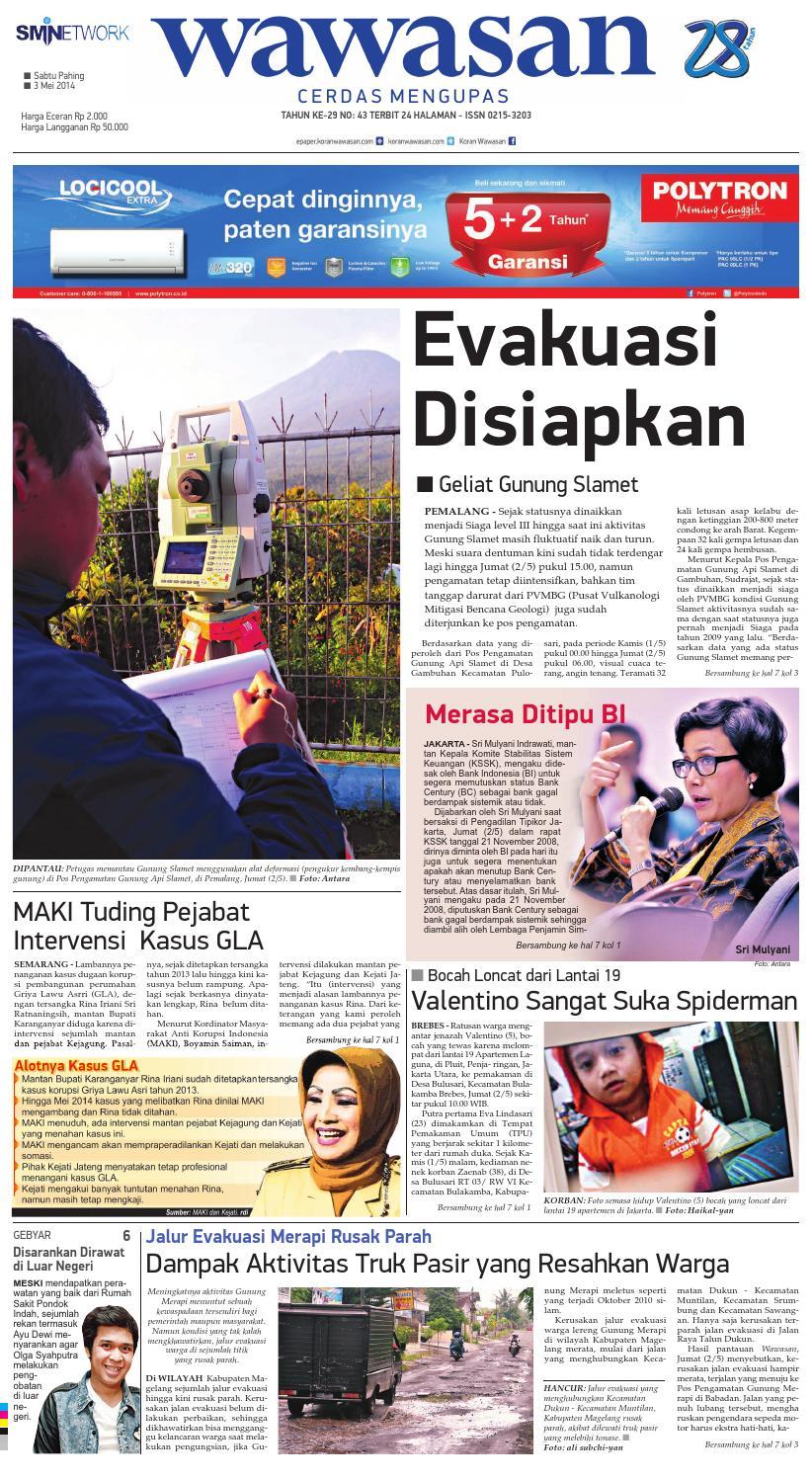 Wawasan 03 Mei 2014 By Koran Pagi Issuu Produk Ukm Bumn Jus Durian Lite Kuning Omah Duren