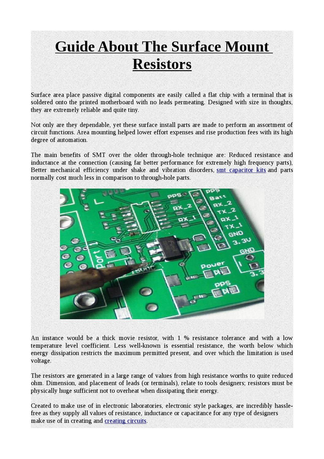 Guide About The Surface Mount Resistors By David Kept Issuu Containing Electronic Components Circuit Is Printed On Its