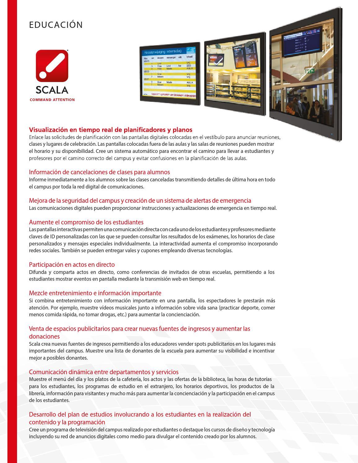 Scala digital signage educacion by Difusión Tecnológica - issuu