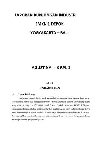 Laporan Kunjungan Industri Agustina By Fajri Agustina Issuu