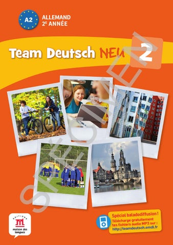 f8f3eec5d8a7 Team Deutsch Neu 2 - Livre élève - Éditions Maison des Langues by ...