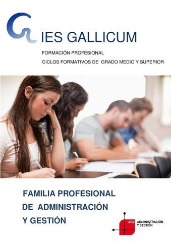 Dossier Gallicum Grado Medio Administrativo By Departamento