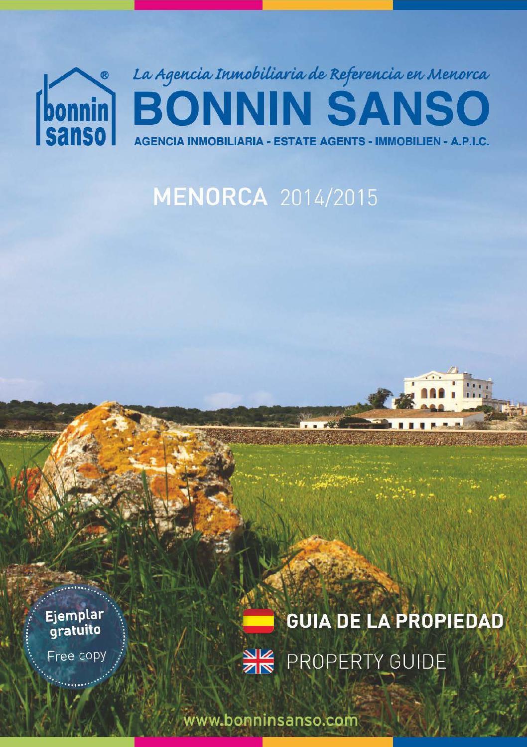 Property guide menorca 2014 by bonnin sanso estate agents issuu - Bonnin sanso menorca ...