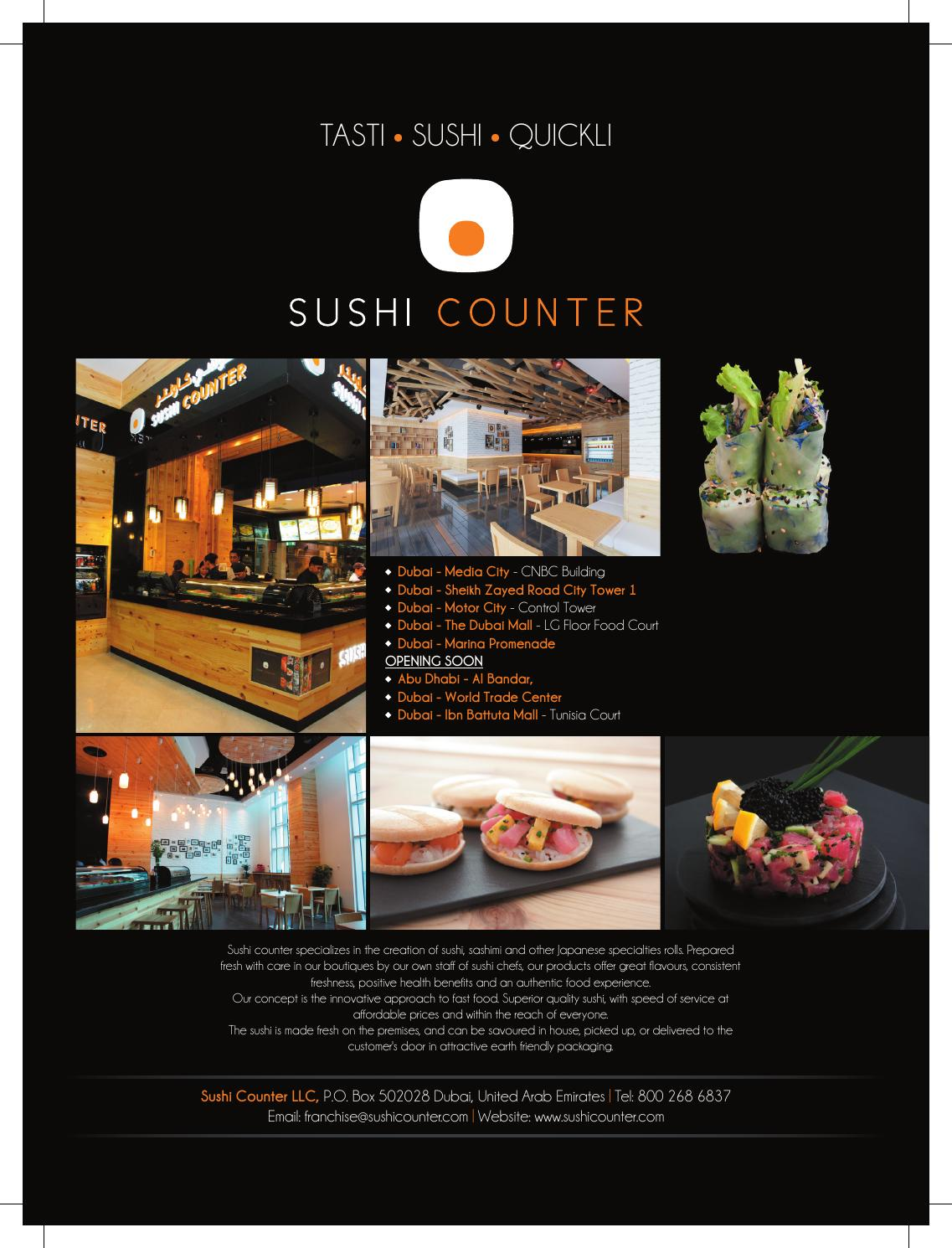Sushi counter full page cat
