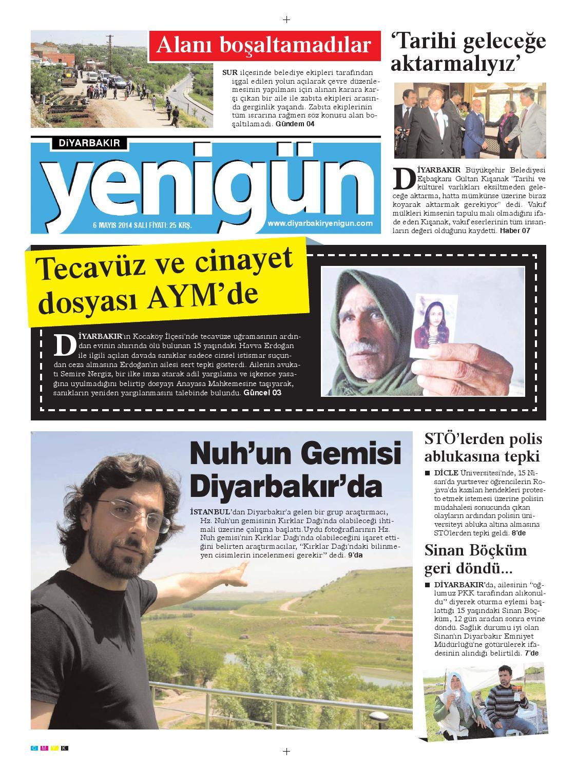 Diyarbakir Yenigun Gazetesi 6 Mayis 2014 By Osman Ergun Issuu