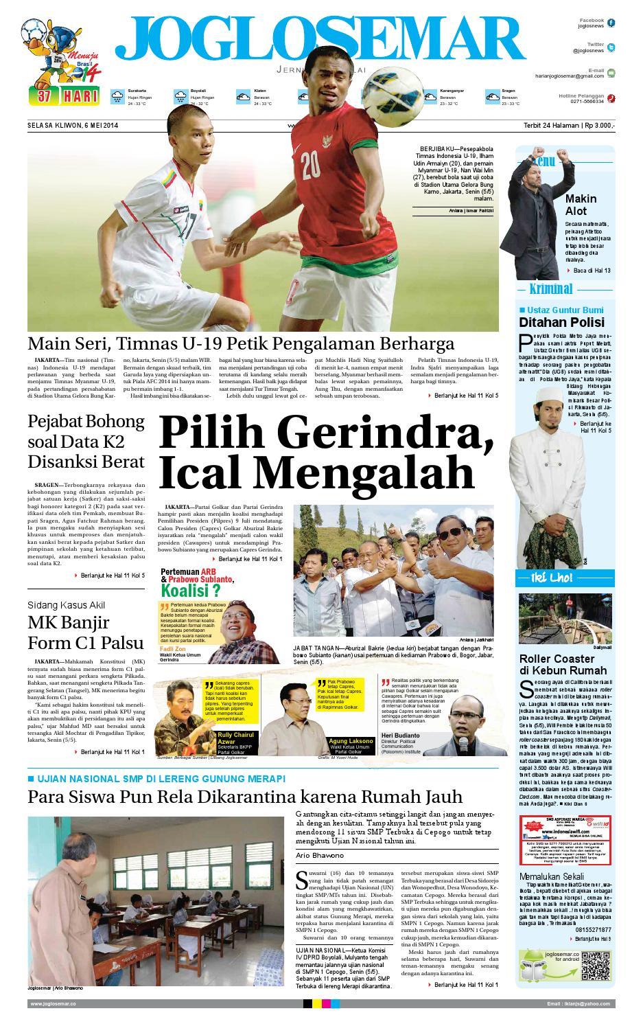 Epaper Edisi 06 Mei 2014 By Pt Joglosemar Prima Media Issuu Produk Ukm Bumn Dress Gamis Batik Motif Ayam Bekisar