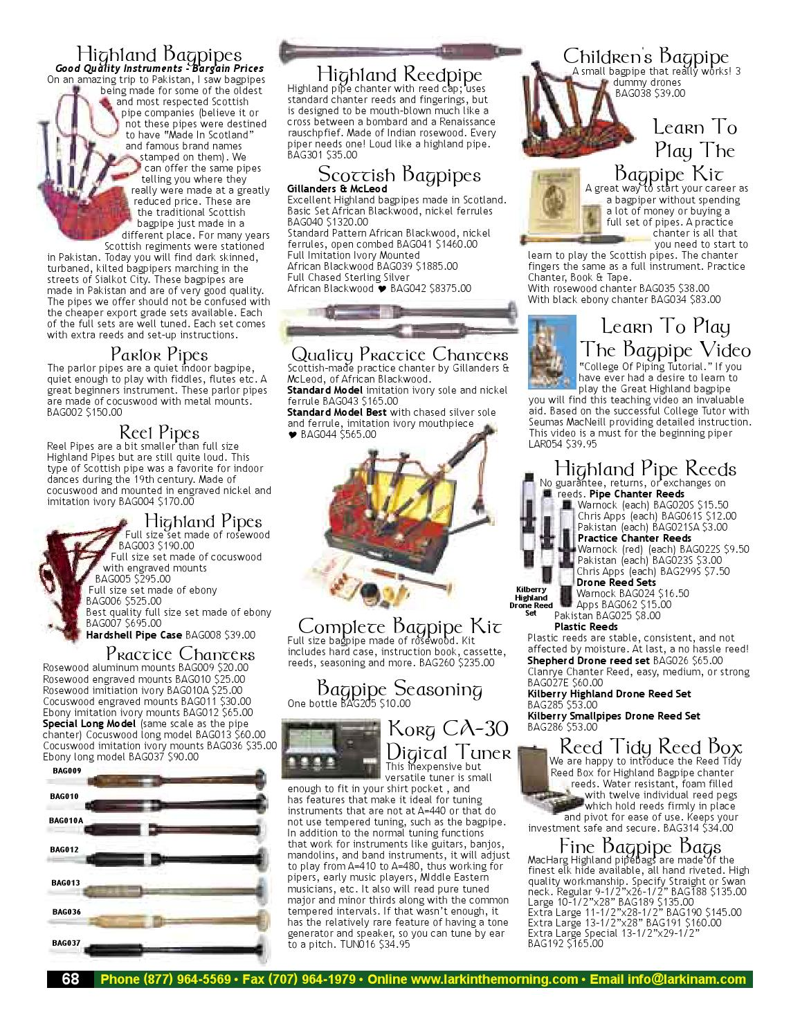 Scottish Bagpipe Rosewood Imattion Ivory Mounts with Hard Case//Practice Chanter