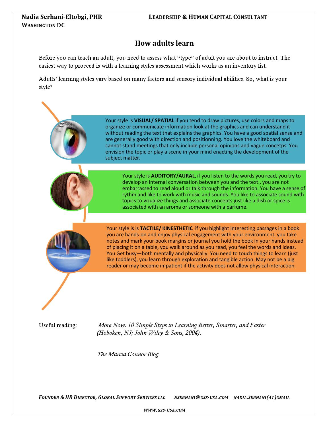Your adult learning style