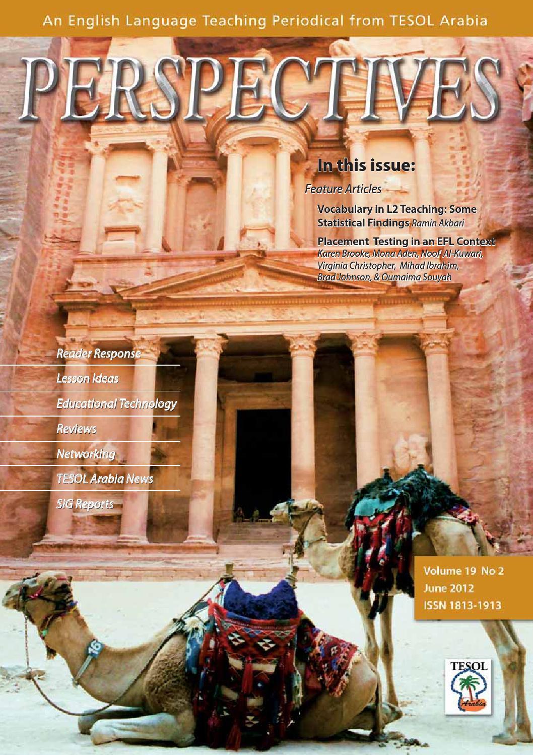 2012 jun by tesol arabia perspectives issuu