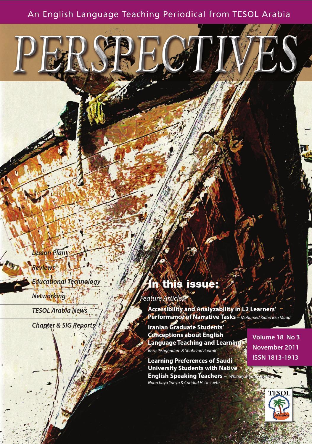 2011 nov by tesol arabia perspectives issuu