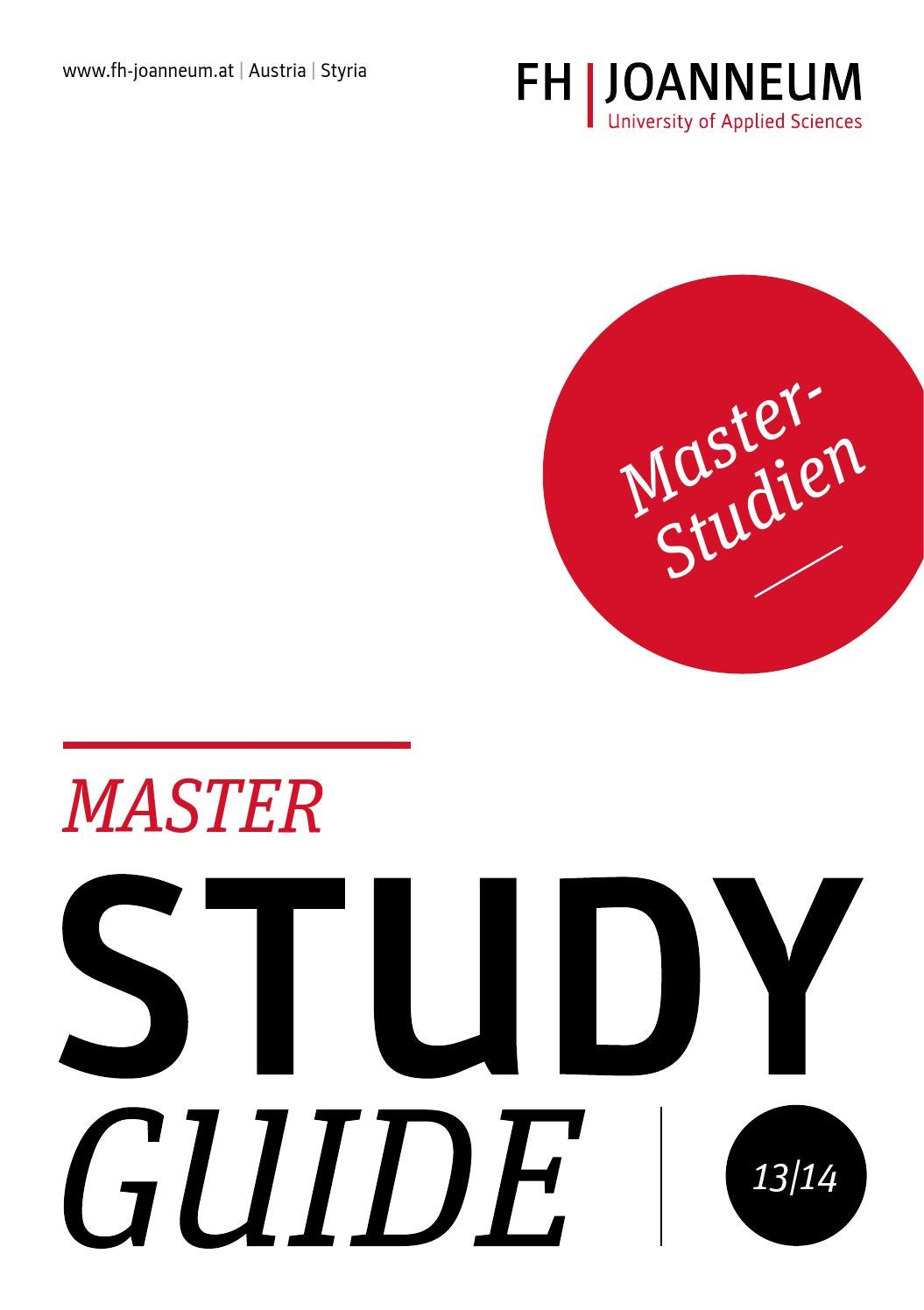 Study Guide - Master by FH JOANNEUM - University of Applied Sciences ...