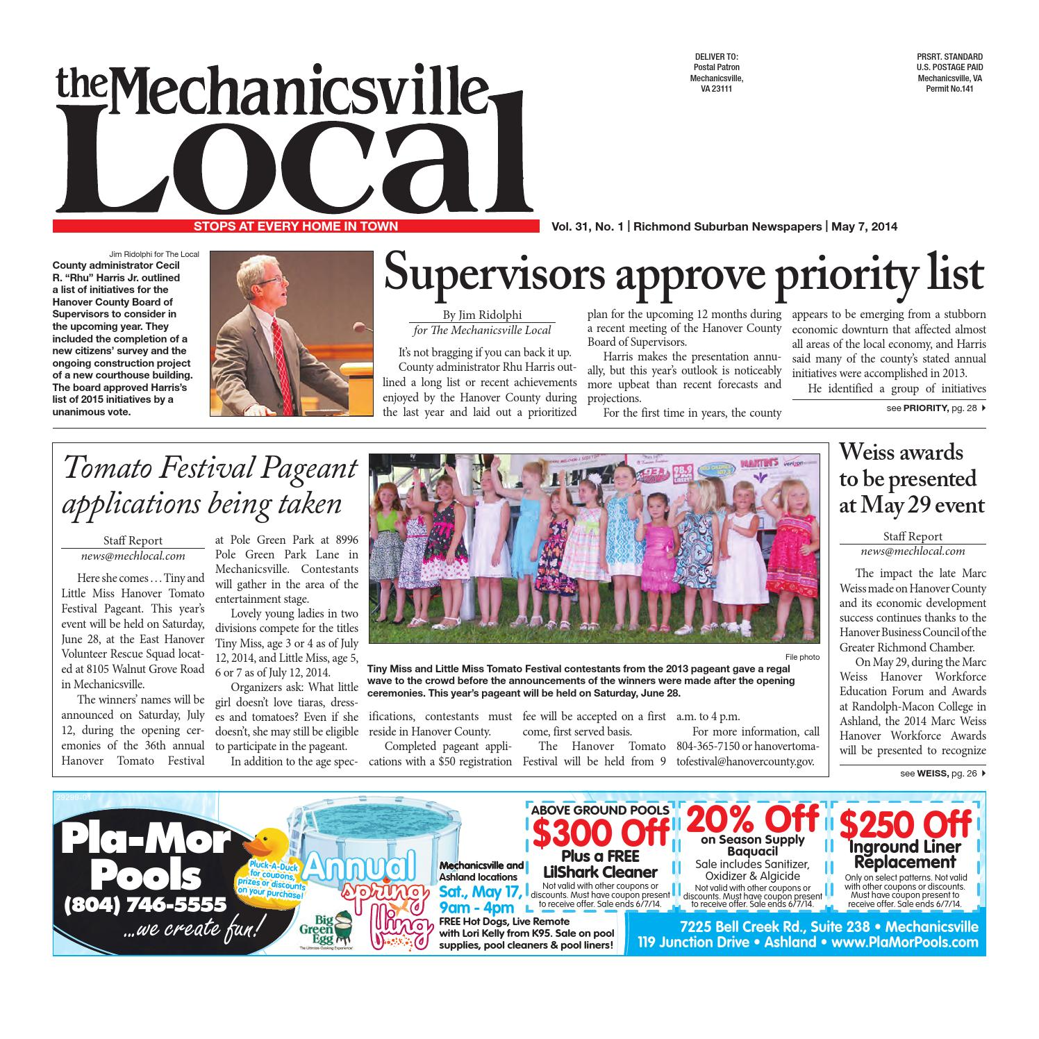05072014 by the mechanicsville local issuu fandeluxe Gallery