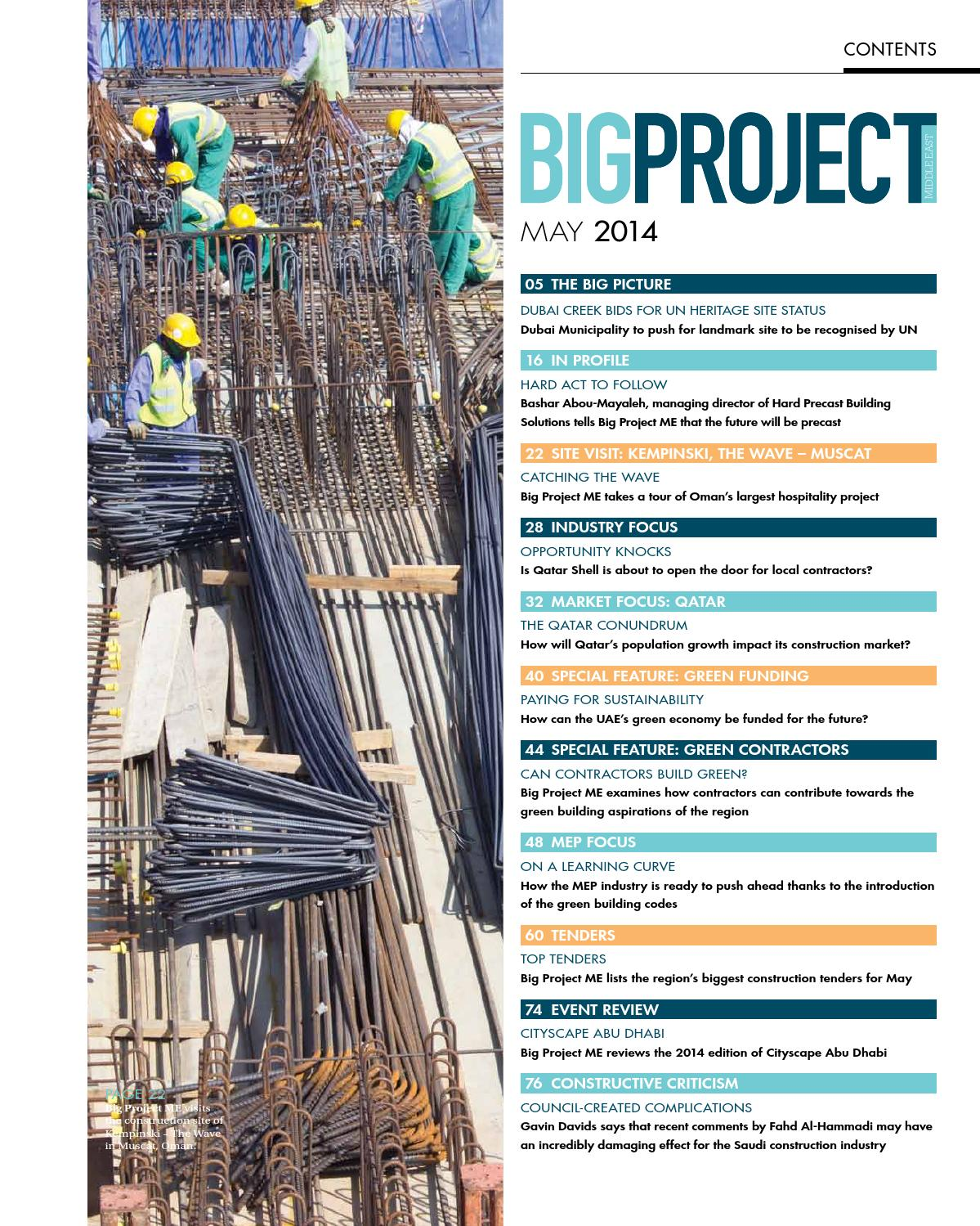 May 2014 by Big Project Middle East - issuu