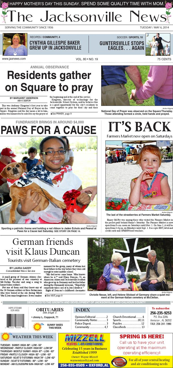The Jacksonville News 050614 By Consolidated Publishing Co Issuu