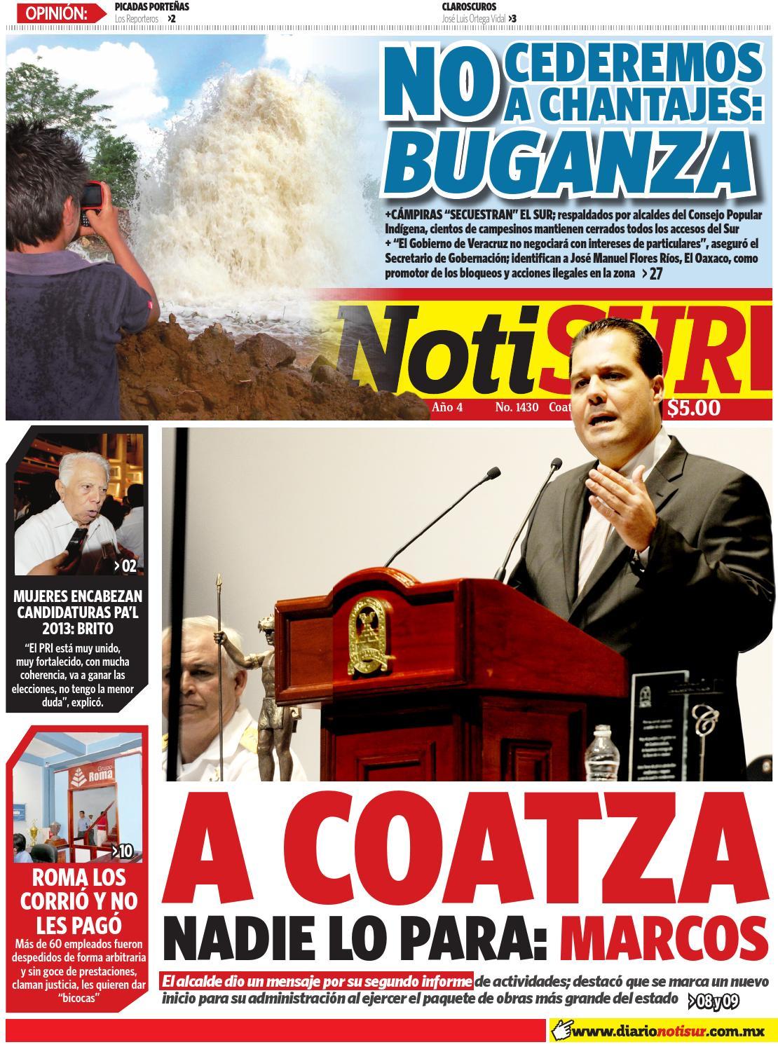 Notisur 18 De Diciembre 2012 By Diario Notisur Coatzacoalcos 2012  # Muebles Buganza