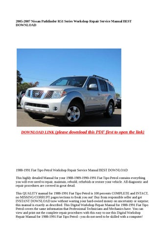 2005 nissan pathfinder service manual