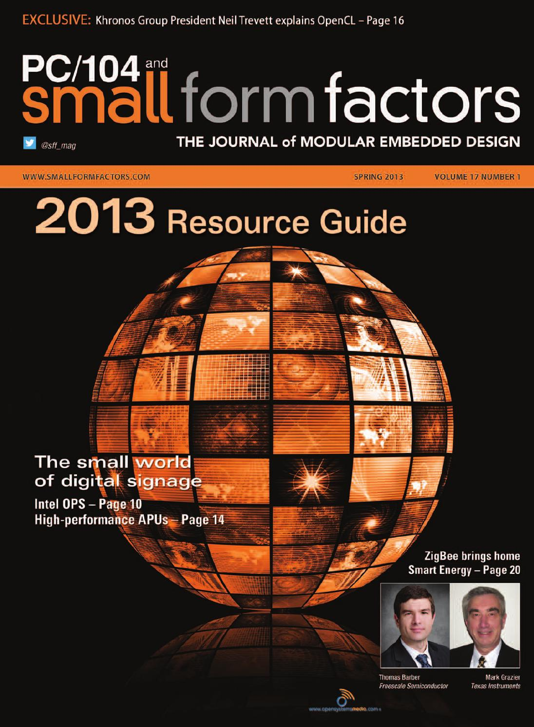 PC/104 and Small Form Factors Spring 2013 Resource Guide by
