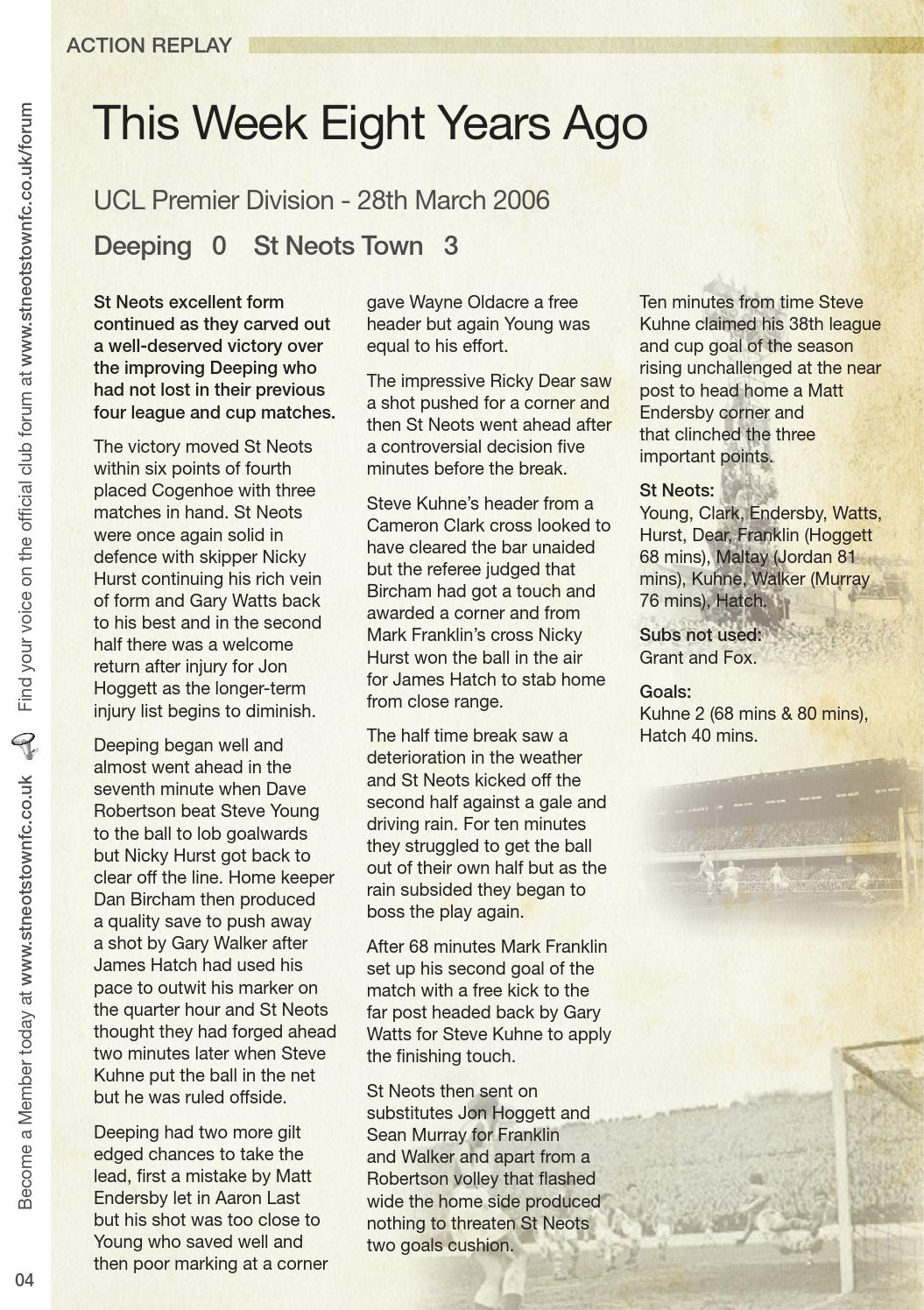 Saints vs bideford by St Neots Town Football Club - issuu