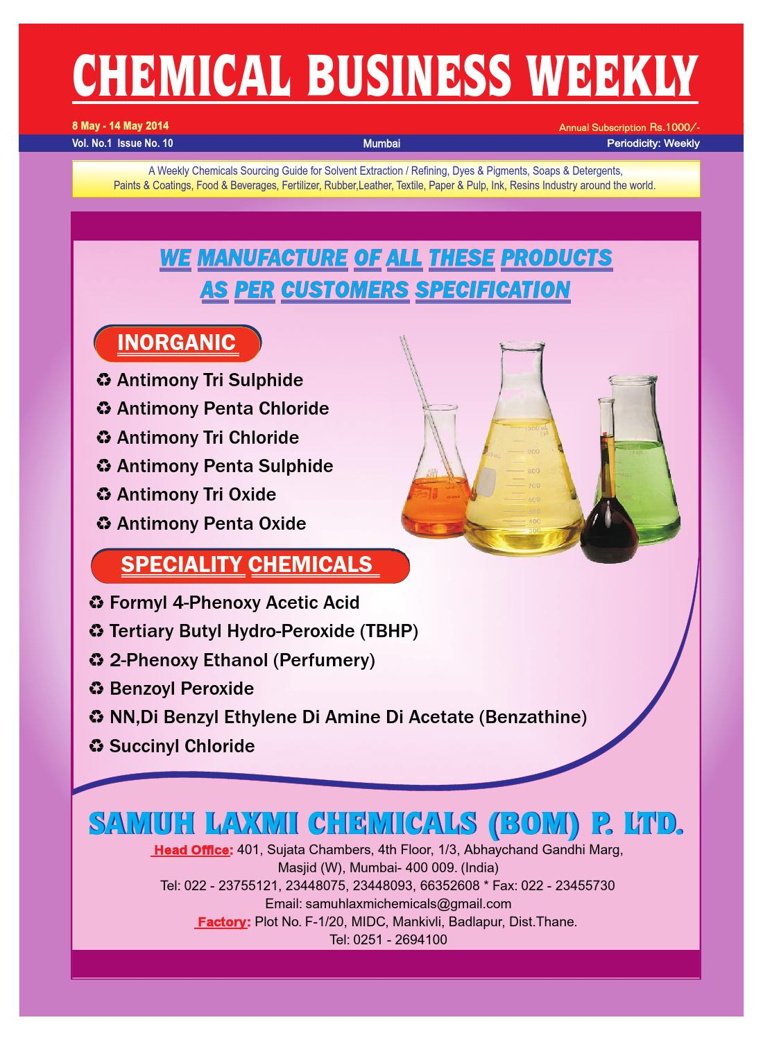 Chemical Business Weekly 8th May - 14th May 2014 by The Mazada