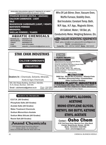 Chemical Business Weekly 8th May - 14th May 2014