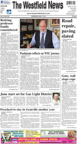 Wednesday May 7 2014 By The Westfield News