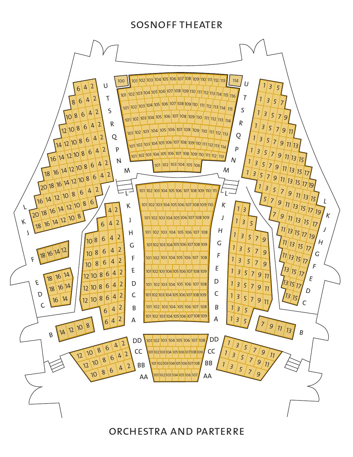 fisher center venues seating chart by the richard b fisher