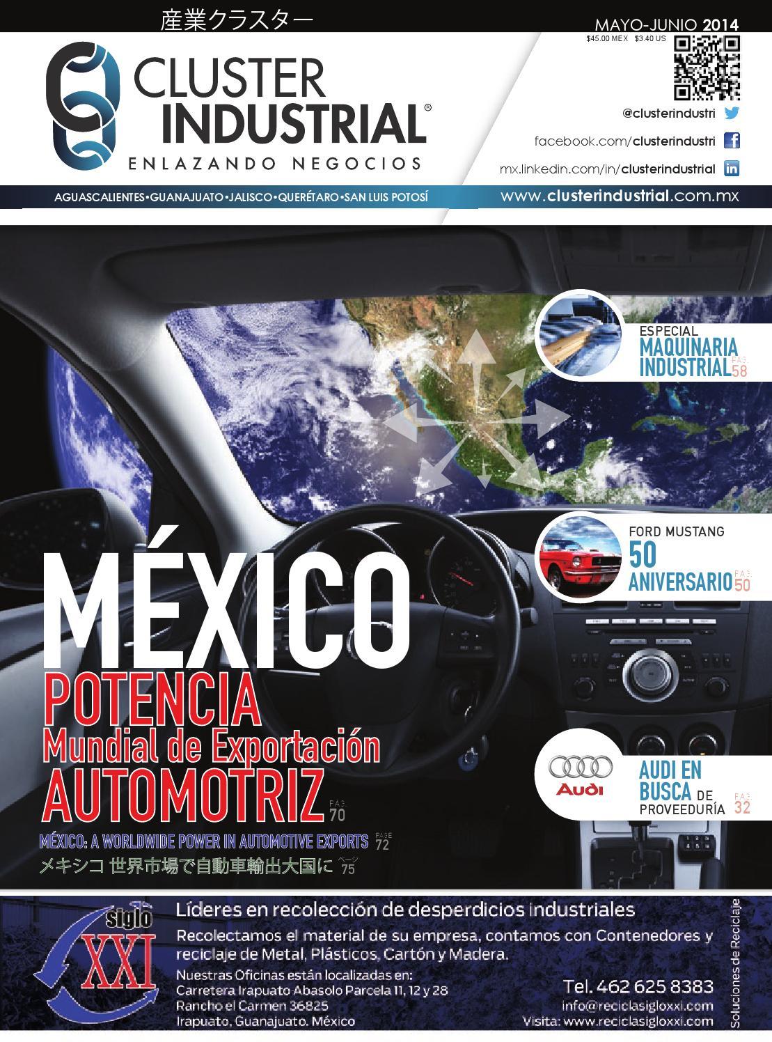 Edición 10  Mayo-Junio 2014 by Cluster Industrial - issuu 5ccbec66cb8f5