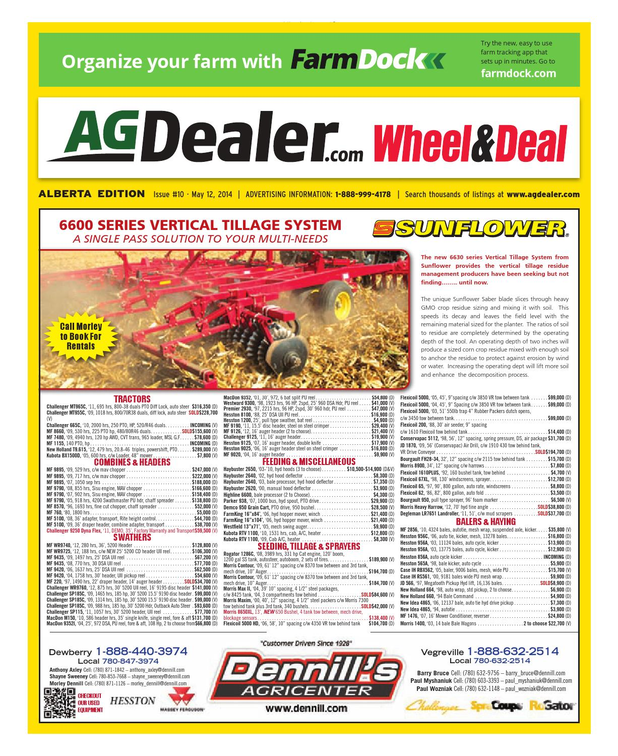 Wheel & Deal Alberta, May 12, 2014 by Farm Business Communications -  issuu