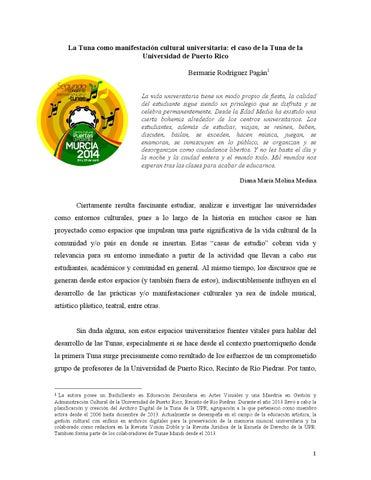 La Tuna Como Manifestación Cultural Universitaria By Tunae