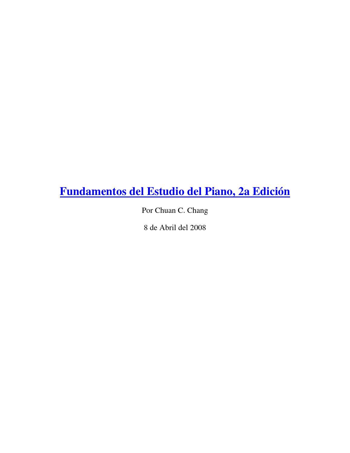 Fundmentos del estudio del piano by Clever Perez - issuu