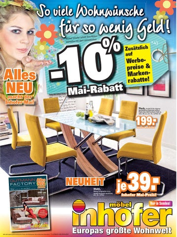 Mobel Inhofer Prospekt Kw 19 By Media Service Ostalb Gmbh Issuu
