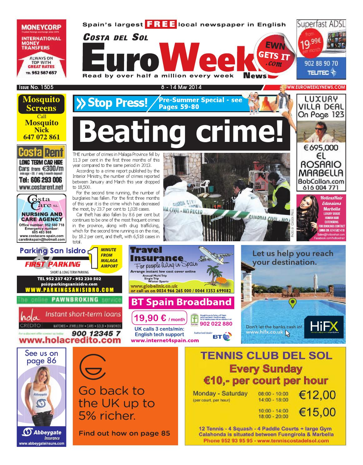 Euro Weekly News - Costa del Sol 8 - 14 May 2014 Issue 1505
