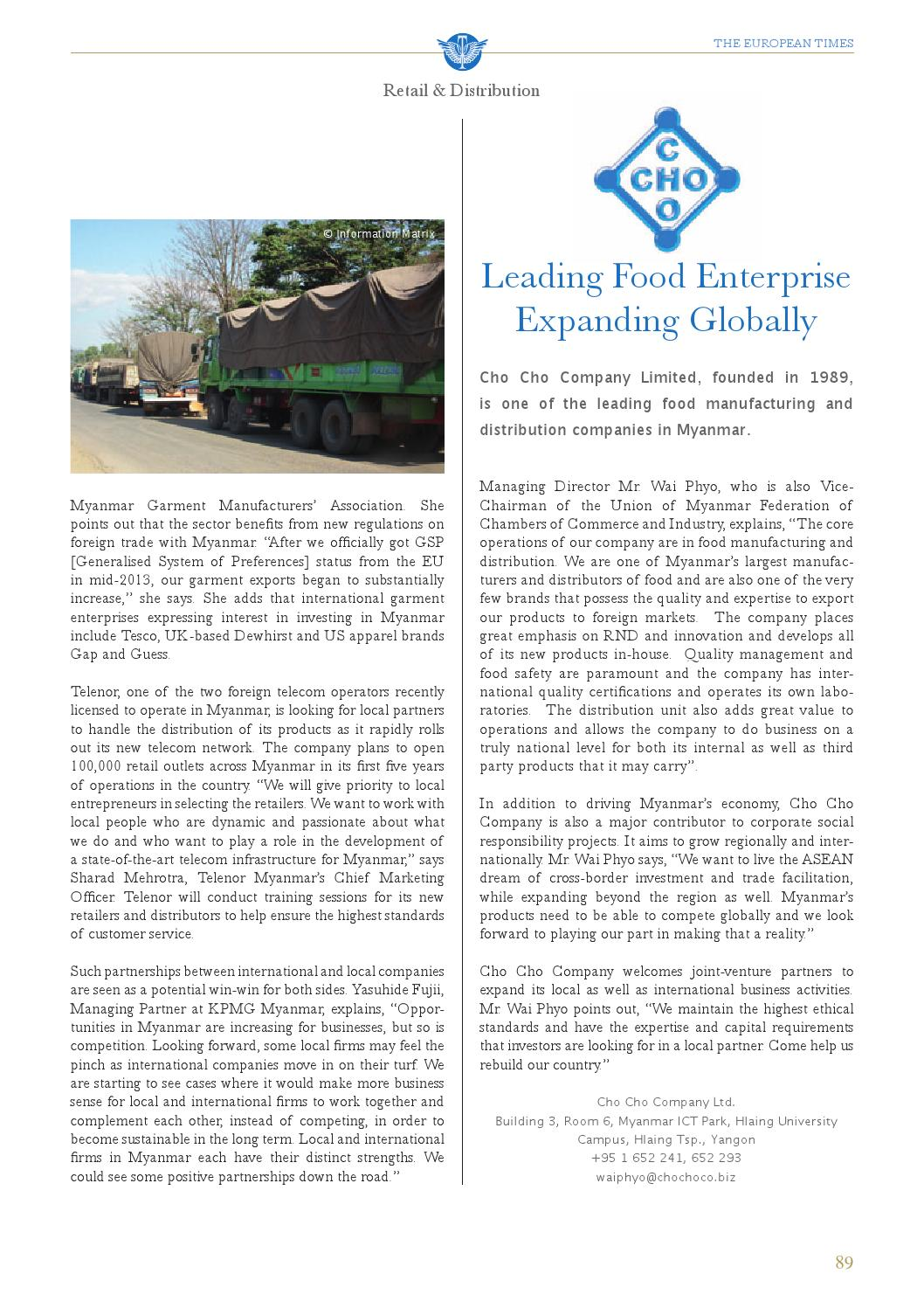 The European Times - Myanmar by The European Times - issuu