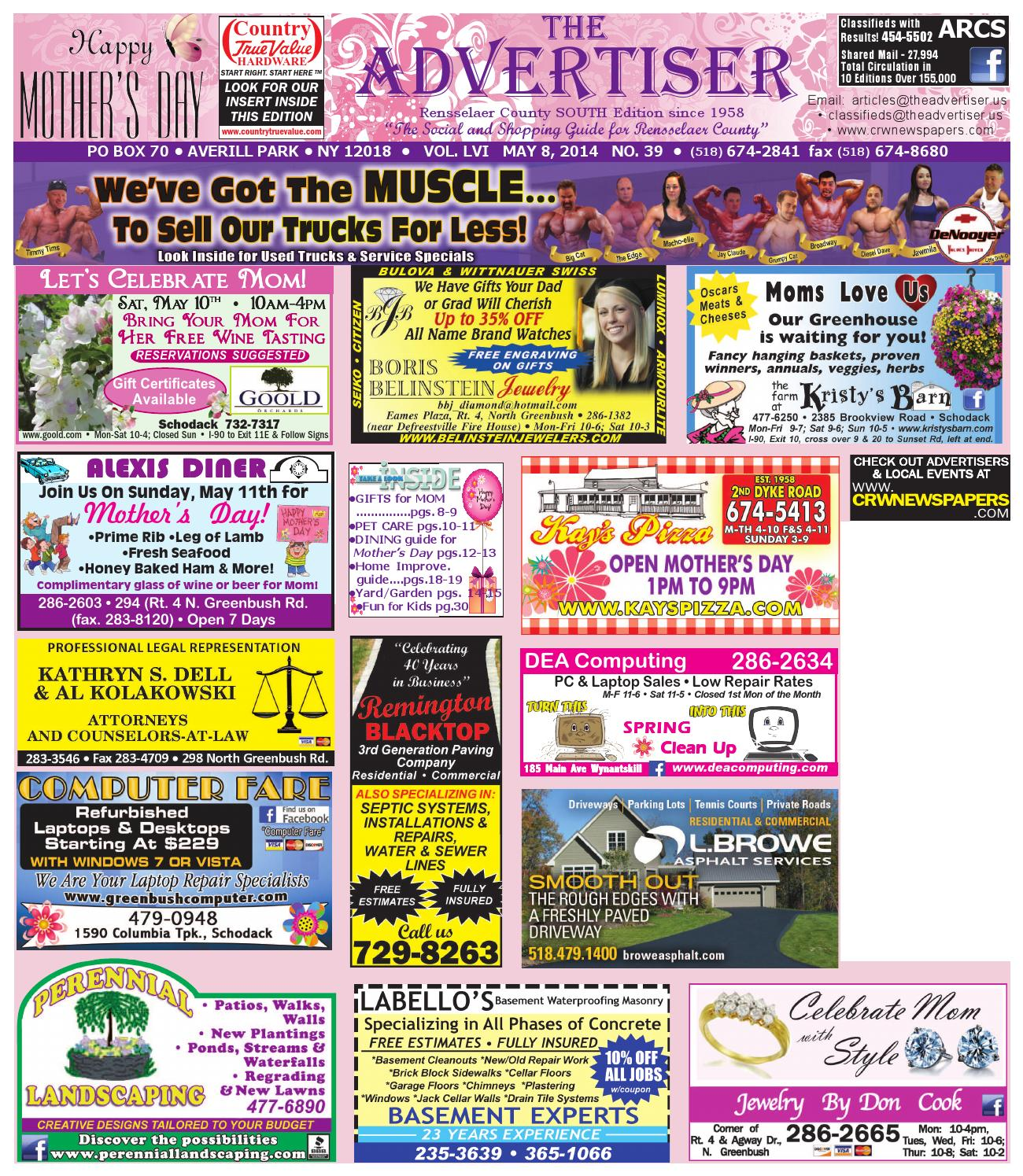 Advertiser south pennysaver 050814 by capital region weekly advertiser south pennysaver 050814 by capital region weekly newspapers issuu fandeluxe Images