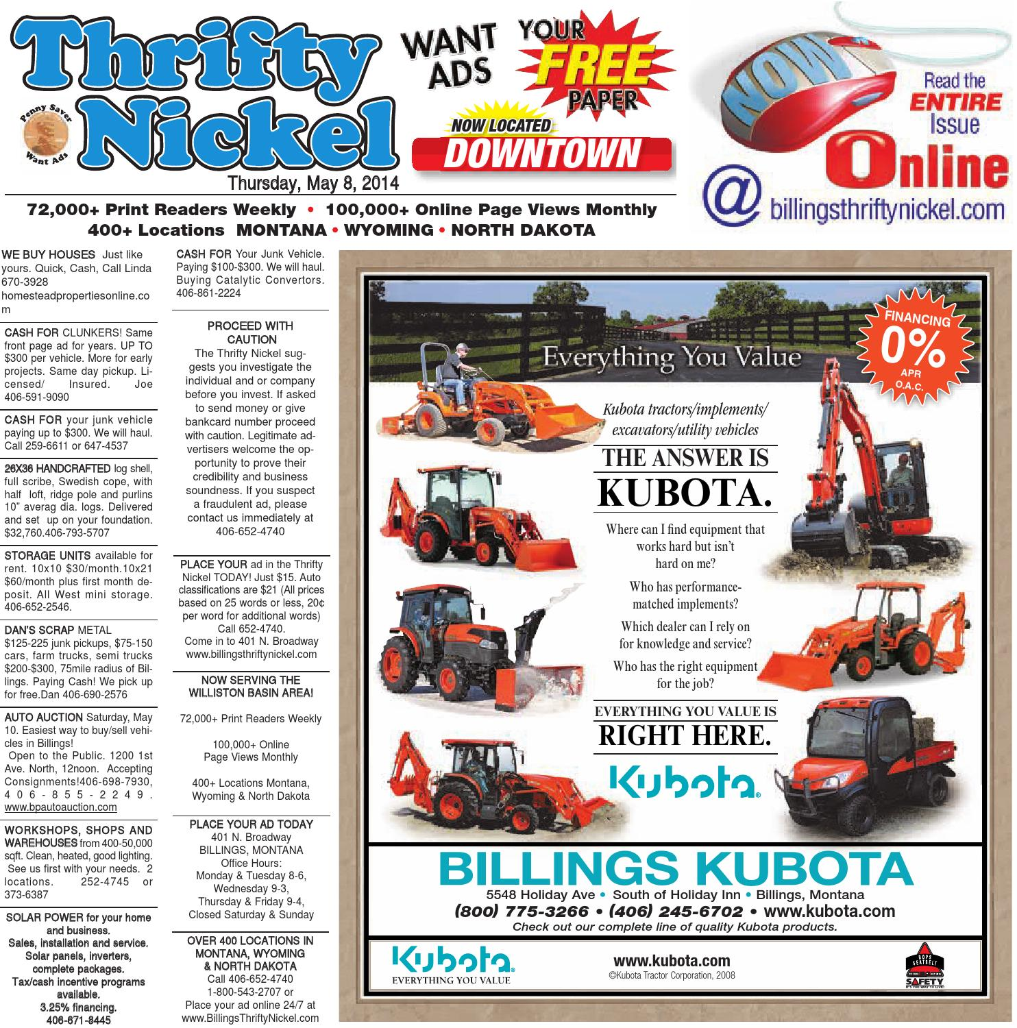 Thrifty Nickel May 8 By Billings Gazette Issuu John Deere Skid Steer Wiring Diagrams For 380
