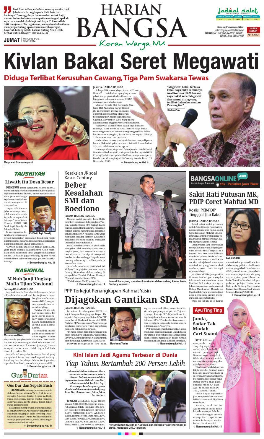 Edisi 09 05 14 By Bangsaonline Issuu Produk Ukm Bumn Baju Muslim Anak Laki Dannis Nomor 10 Abu