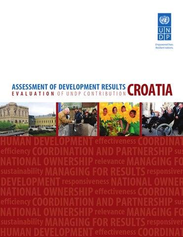 assessment of development results croatia by undp