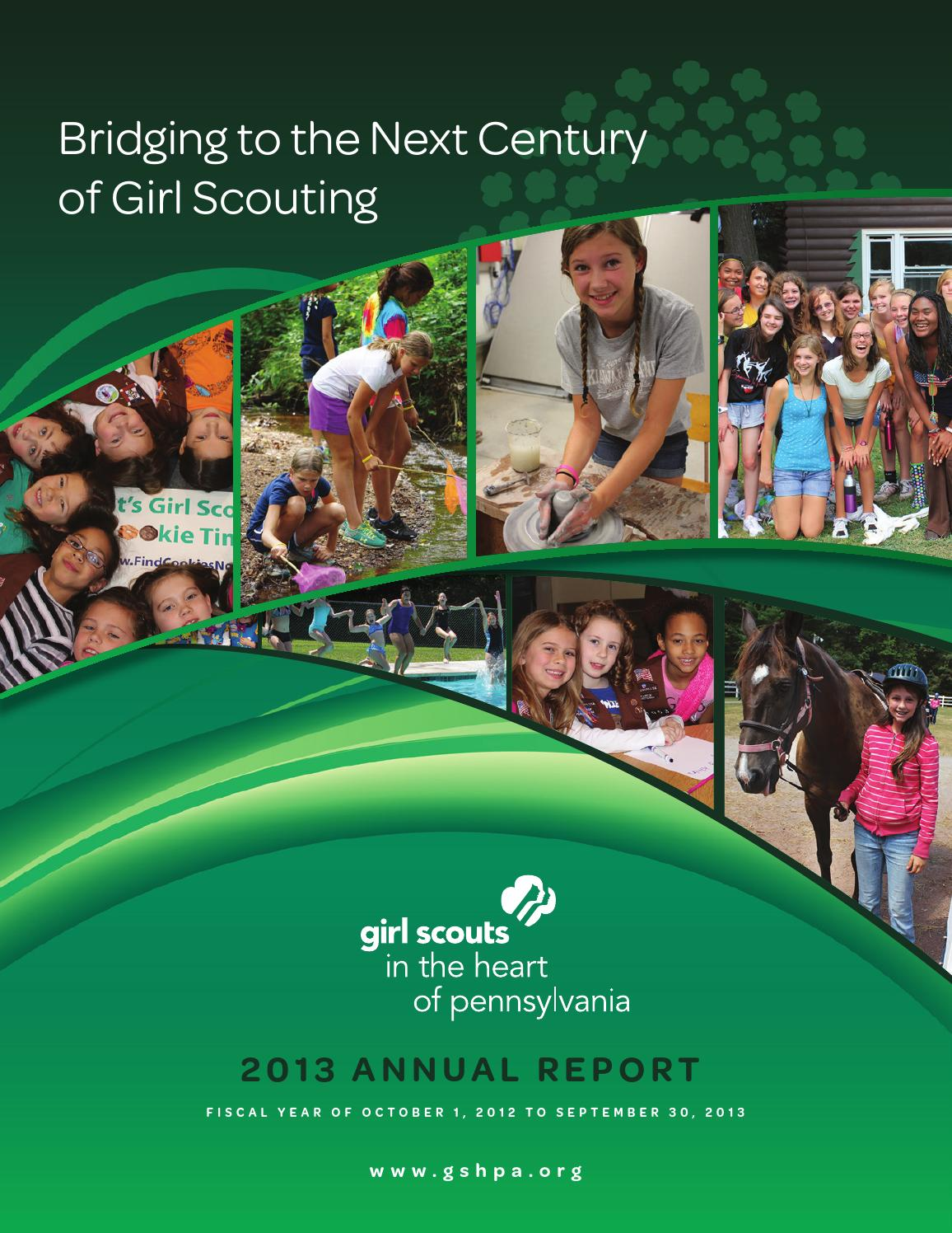 2013 girl scouts in the heart of pa annual report by girl
