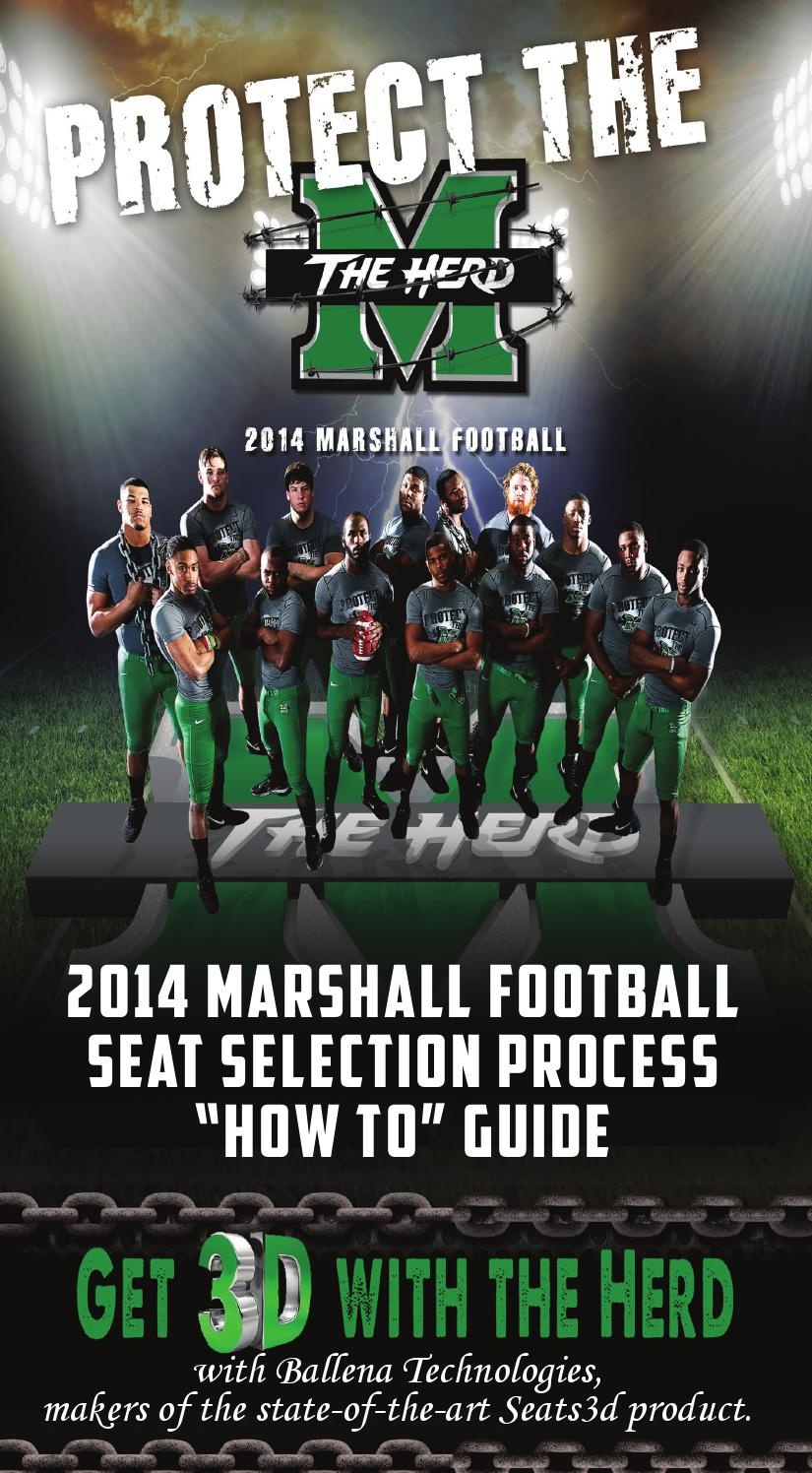 2014 Marshall Football Seat Selection Process How To Guide By Marshall Sports Information Issuu