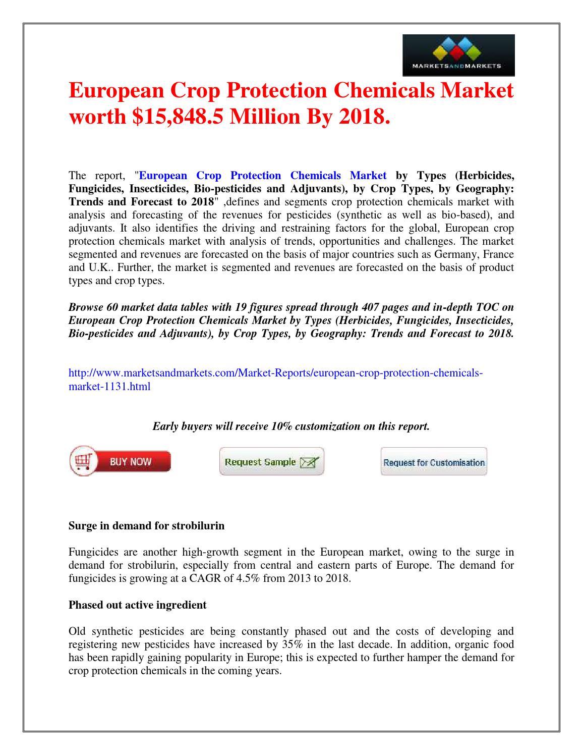 European Crop Protection Chemicals Market worth $15,848 5