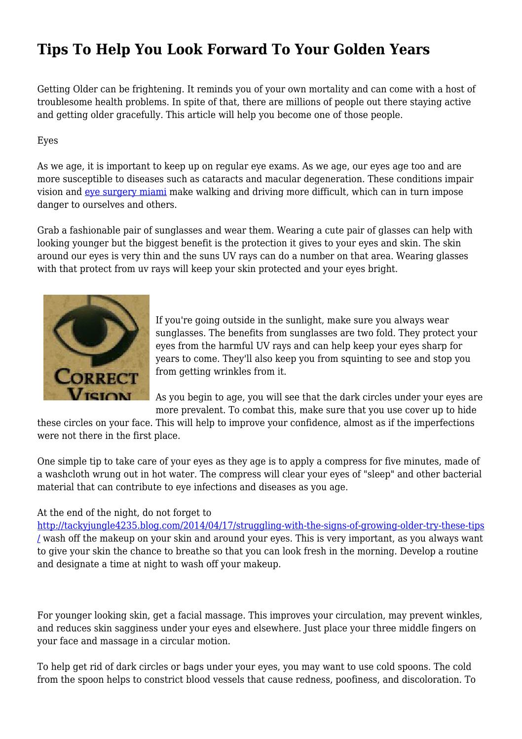 tips to help you look forward to your golden years bytips to help you look forward to your golden years by rebeltimetable985 issuu