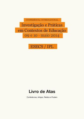 III Conferência Internacional – Investigação e Práticas em Contextos