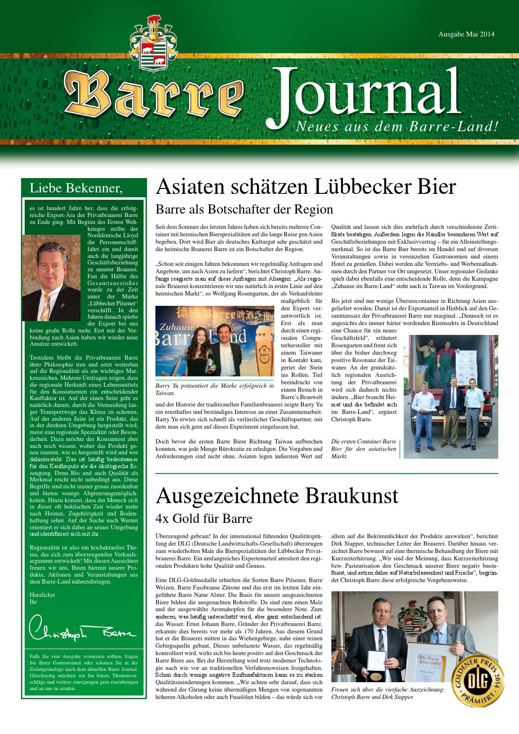 Barre Journal Mai 2014 by Privatbrauerei Barre - issuu