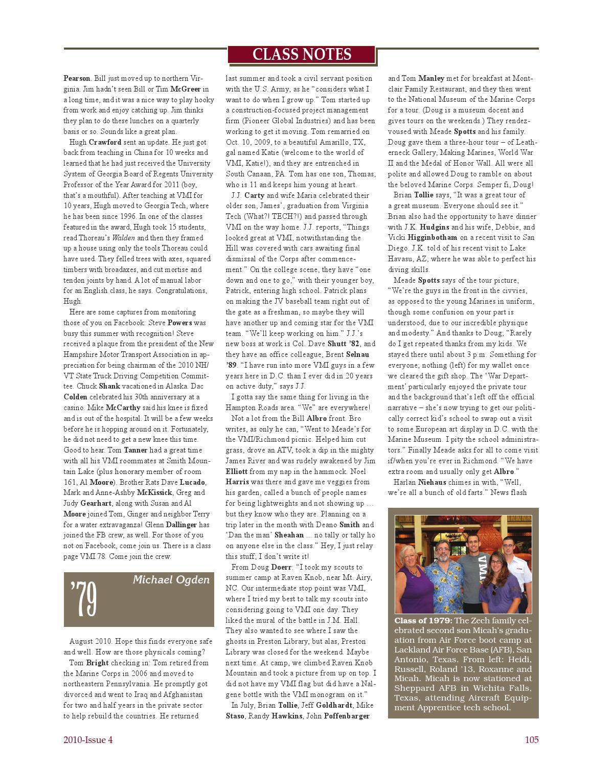 Alumni Review 2010 Issue 4 by VMI Alumni Agencies - issuu