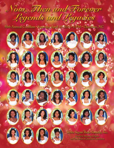 50th Annual Debutante Cotillion Souvenir Book By Charlotte