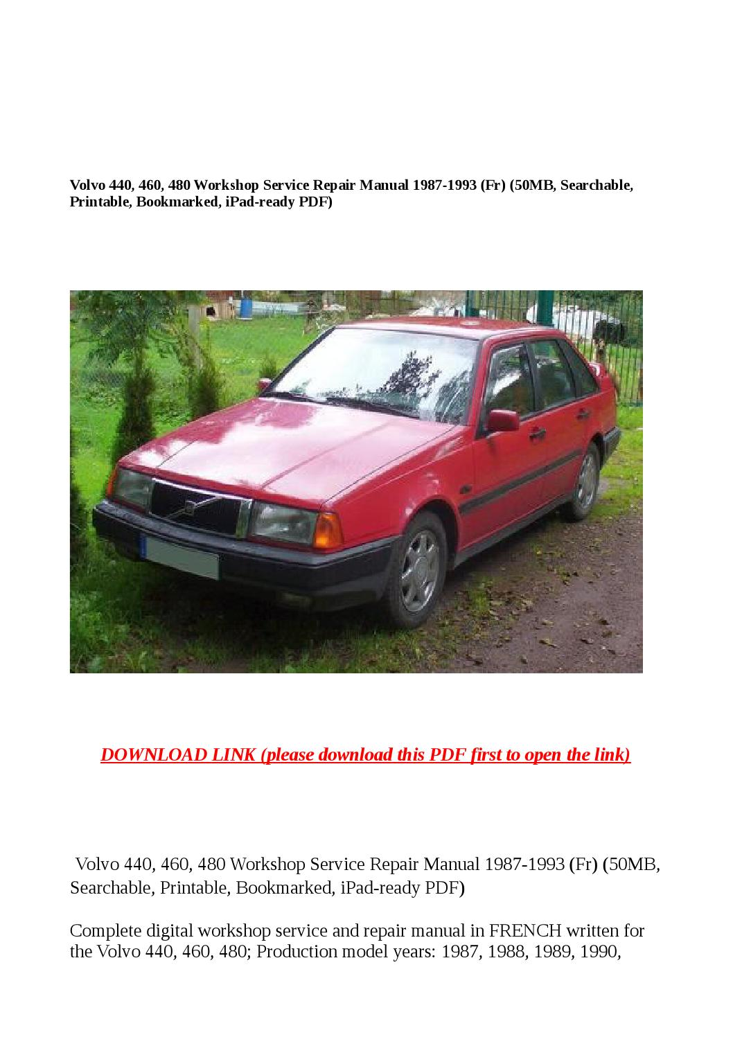 Service & Repair Manuals Download Link Volvo Workshop Service and ...