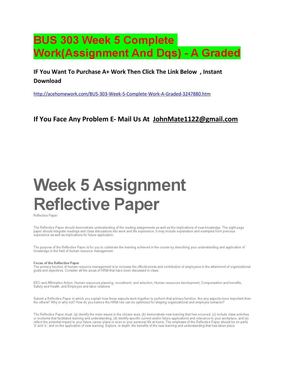 parts of reflective essay