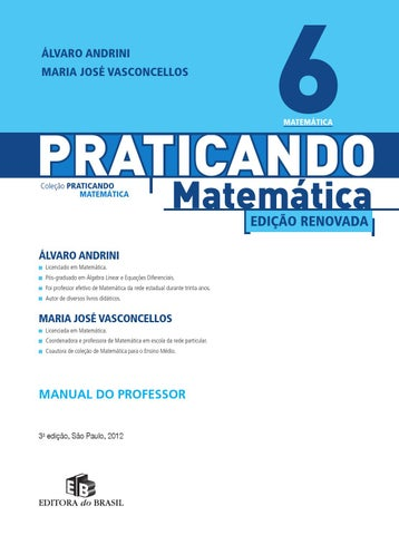 3b71033a3 Praticando matematica 6ano by ronaldo.cardoso - issuu